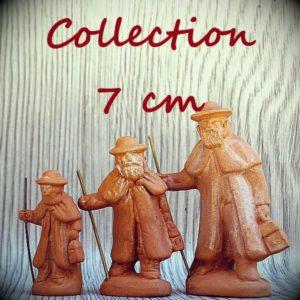 Santons en argile bruts 7 cm